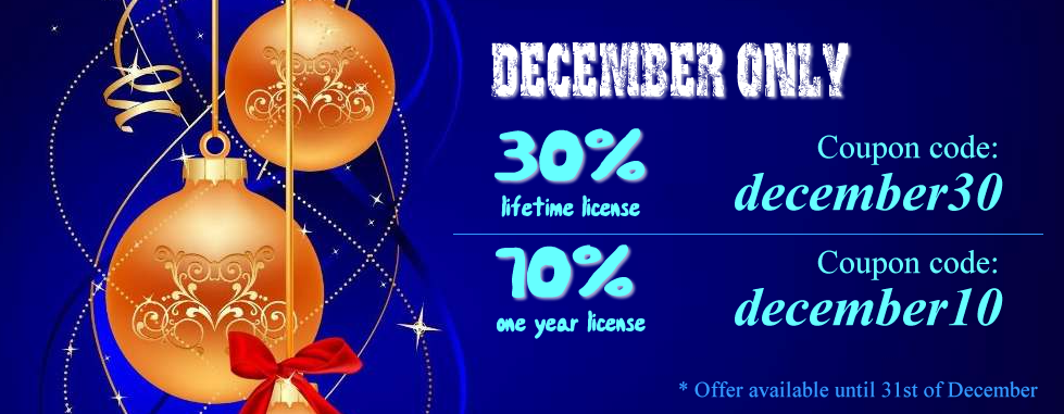 December Only - Big Discounts
