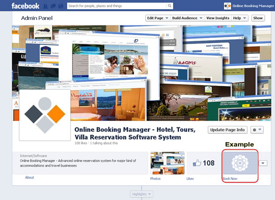 Facebook Online Booking System Interface | Online Booking Manager